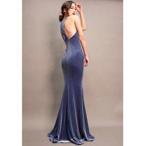 Host Pick  Zac Posen $1350 blue velvet gown